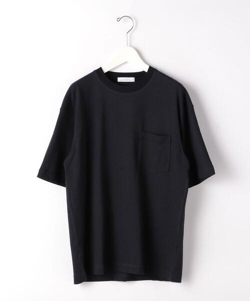 CSM コットン ラミー ストライプ クルーネック 半袖 Tシャツ カットソー