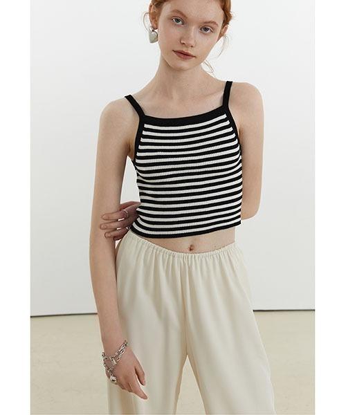 【Fano Studios】【2021SS】Cropped striped camisole FX21S258