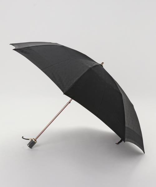 LANVIN collection(ランバン コレクション)の「折りたたみ傘 【ロゴジャガード】(折りたたみ傘)」|ブラック