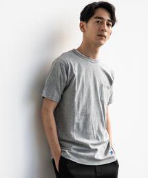 【WEB限定】[ラッセルアスレチック]SC★★RUSSELL ムジ ポケットTシャツ