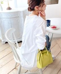 後ろヘンリーネックロング丈長袖カットソー【大きいサイズXLまでカラー豊富】(Tシャツ/カットソー)