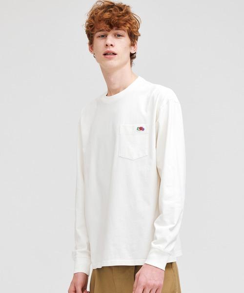 FRUIT OF THE LOOM(フルーツオブザルーム)の「米綿 ポケット付き L/S Tシャツ(Tシャツ/カットソー)」 オフホワイト