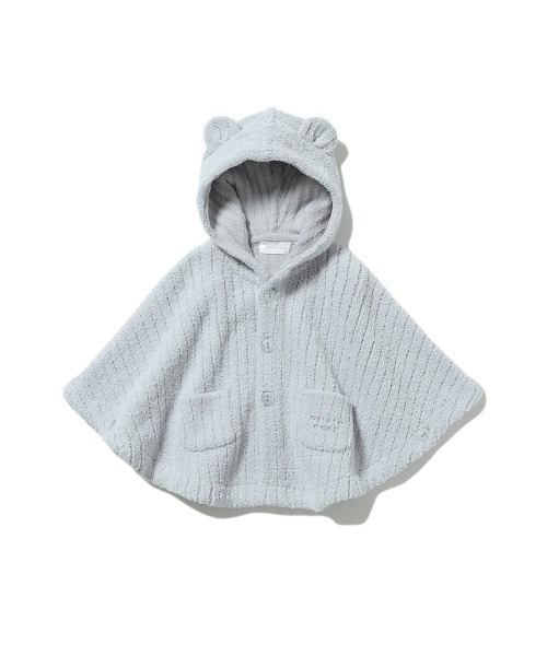 【BABY】'マシュマロモコ'リブ baby ポンチョ