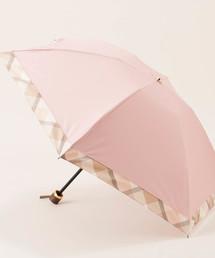 BLUE LABEL CRESTBRIDGE(ブルーレーベル・クレストブリッジ)のパーシャルチェック折りたたみみ傘(折りたたみ傘)