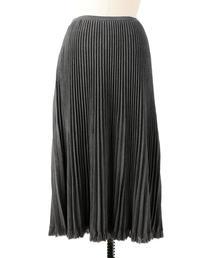 Drawer フリンジプリーツニットスカート