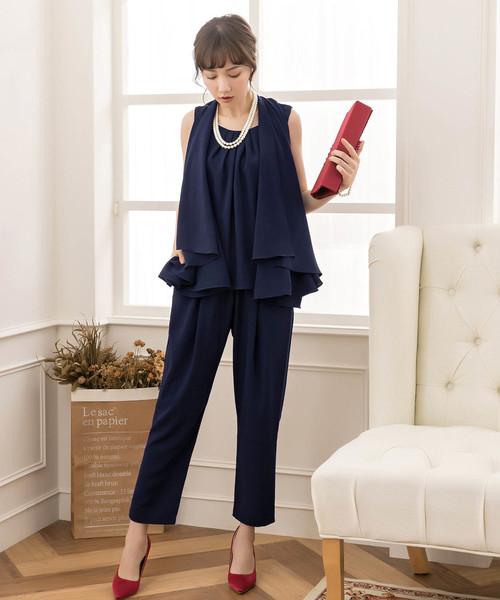 DRESS STAR(ドレス スター)の「セットアップドレス・結婚式ワンピース・お呼ばれパーティードレス(ドレス)」|ネイビー