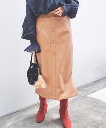 SMF フェイクラムIラインスカート