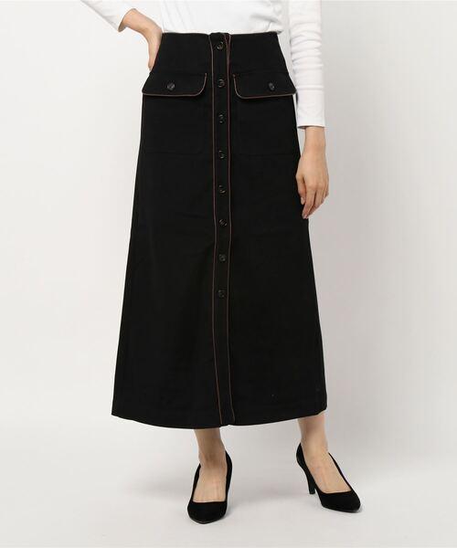 パイピングナロースカート