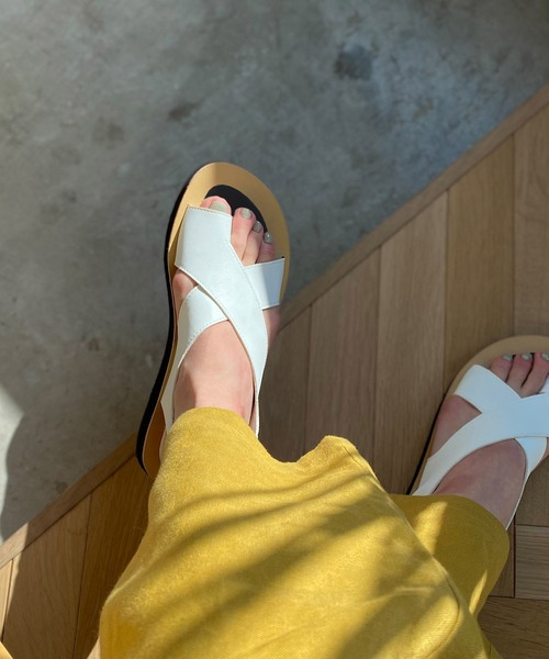 【chuclla】【2021/SS】Thong cross strap sandal sb-6 chs118
