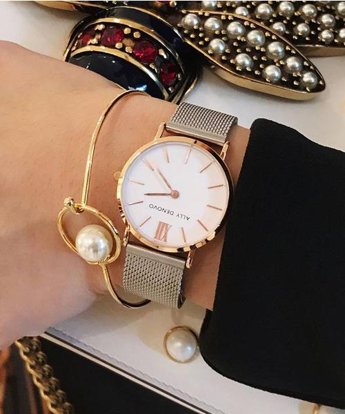 素晴らしい 〈ALLY DENOVO/アリーデノヴォ〉New Vintage ALLY Mesh/ニュービンテージメッシュ(腕時計)|ALLY Vintage DENOVO(アリーデノヴォ)のファッション通販, アウローラ フォーマル:e75b2c18 --- pyme.pe
