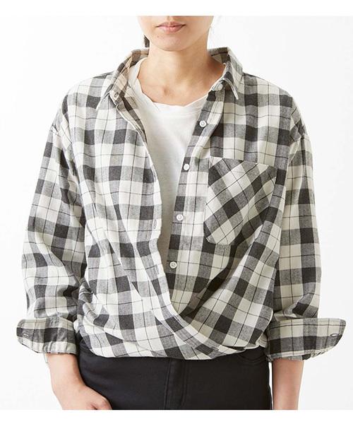 IEDIT やわらかな上品素材が大人に丁度いい たゆんとチェックシャツ