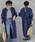 select MOCA(セレクトモカ)の「ハリ感のあるコットン素材◆コクーンシルエットバッククロスキャンディースリーブ長袖ロングシャツワンピース(シャツワンピース)」|ネイビー