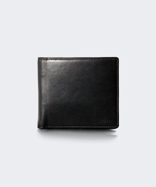 aniary(アニアリ)の「二つ折り財布(アンティークレザー)(財布)」|ブラック