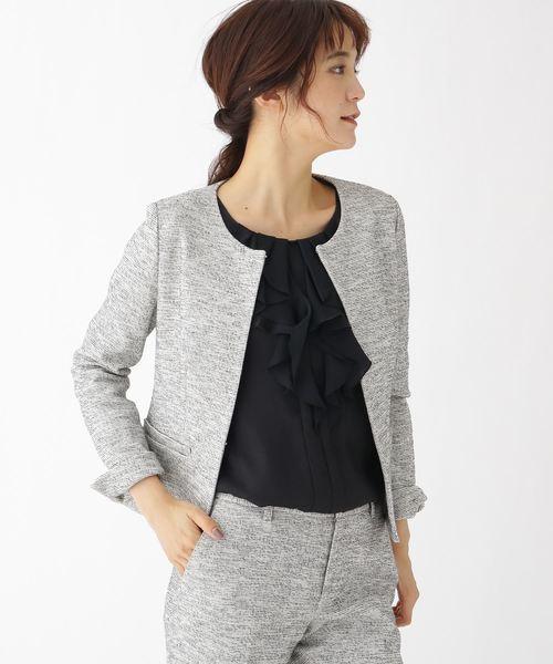 流行に  [S]ツイード風ストレッチジャケット(ノーカラージャケット)|INDIVI(インディヴィ)のファッション通販, イケマン:e9742ff7 --- kralicetaki.com