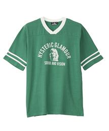 COLLEGE S & V pt VネックTシャツ