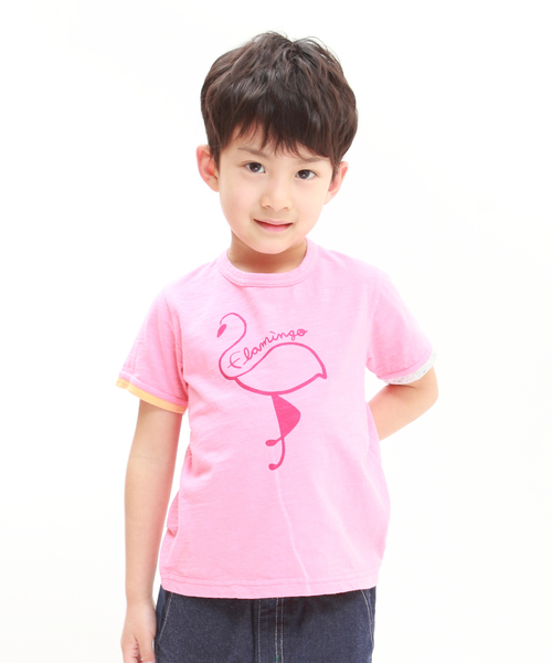 RAGMART(ラグマート)の「プリントTシャツ(Tシャツ/カットソー)」|ピンク