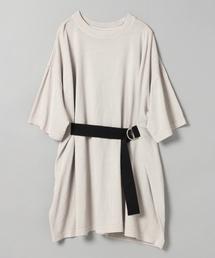 JEANASIS(ジーナシス)のフロントベルトBIG TEE/ビッグシルエットTシャツ/843964(Tシャツ/カットソー)