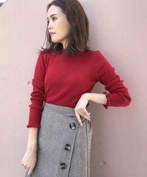 PICCIN(ピッチン)の【VILOFT】袖&衿フリルニット(ニット/セーター)