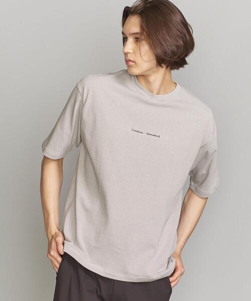 BY FREEDOM STANDARD ボーダー ワイドフォルム Tシャツ
