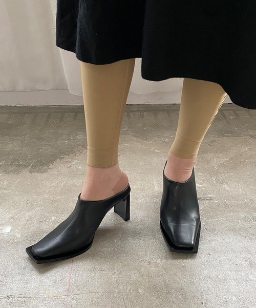 【chuclla】【2021/SS】Square toe mules sb-6 chs119