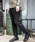 MR.OLIVE | RETORO POLYESTER TWILL / ONE PLEATS STA-PREST TAPERED PANTS(スラックス)
