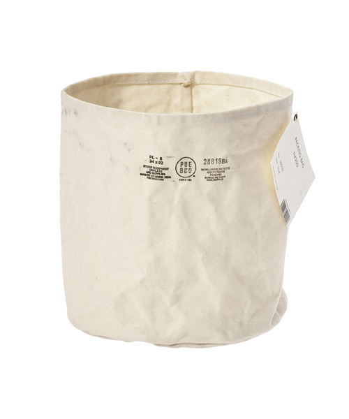 PUEBCO(プエブコ)の「CANVAS POT COVER Large(収納グッズ)」|オフホワイト