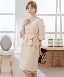 DRESS STAR(ドレス スター)の結婚式ワンピース・お呼ばれパーティードレス/スカートレースセットアップドレス(ドレス)