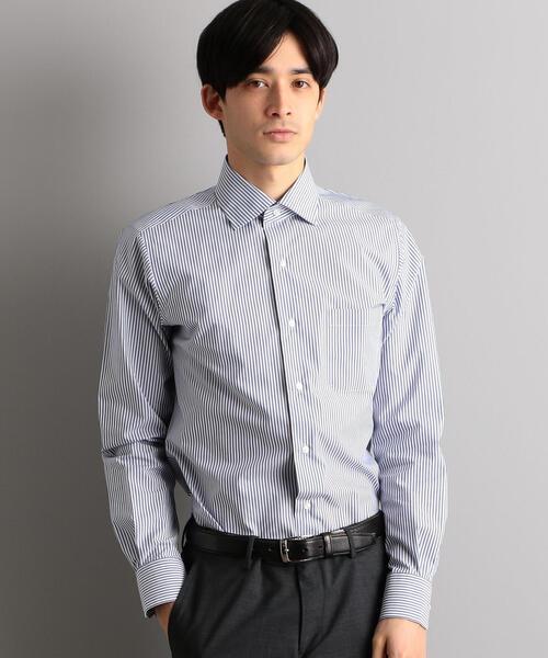 SLIM イージーアイロン COOL MAX ロンドン ストライプ SWD  シャツ / ドレスシャツ