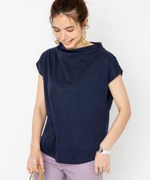 スタンドカラーバックスリットTシャツ#