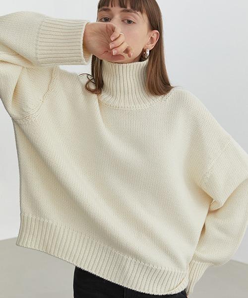 【Fano Studios】【2021AW】Oversized turtleneck knit FD20S118