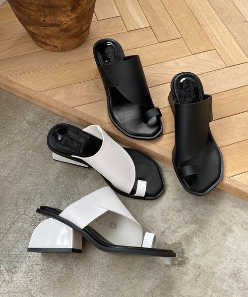 【chuclla】【2021/SS】Ring-thong sector-heel sandals sb-6 chs120