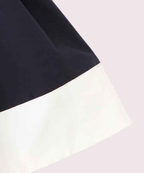 ガールズ カラーブロックドレス