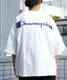 FREAK'S STORE(フリークスストア)のWEB限定 Champion×FREAK'S STORE/チャンピオン 別注ULTRA ビッグシルエット バックプリント ロゴ 半袖Tシャツ/オーバーサイズカットソー(Tシャツ/カットソー)