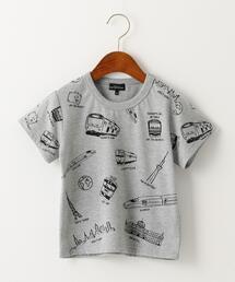 〔吸水速乾〕TRAINモチーフプリントTシャツ