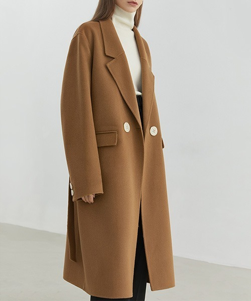 【Fano Studios】【2021AW】River tailored belted wool chester coat FD20W180