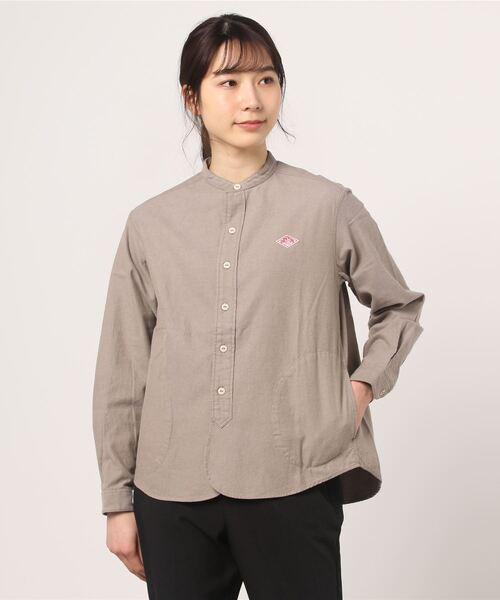 DANTON / ダントン 先染めビエラスタンドカラーシャツ(ウィメンズ)
