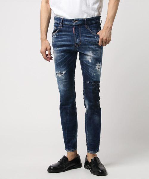 Pamts 5 pockets /Skater jean /Light worked slash wash /0182