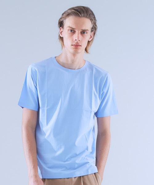 COTTON LYCRA圧着クルーネックTシャツ