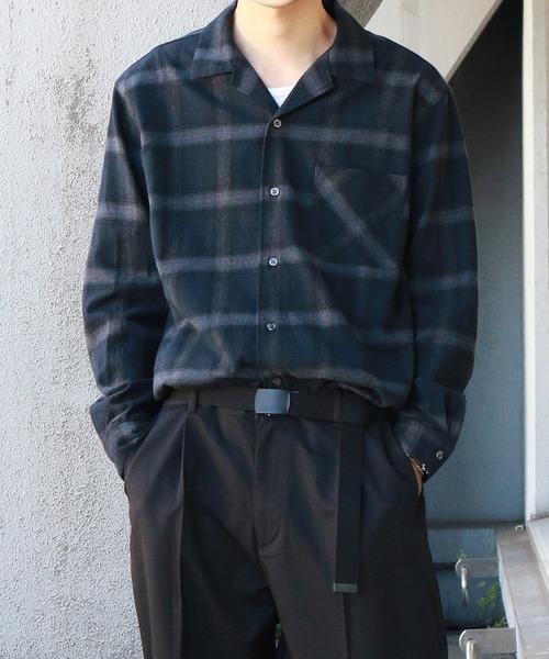 Confirm / コンファーム オンブレチェックシャツ