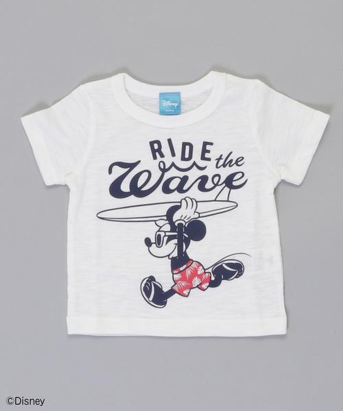 6eb11245b403 Disney(ディズニー)のミッキーマウス サーフ半袖Tシャツ(Tシャツ/カットソー