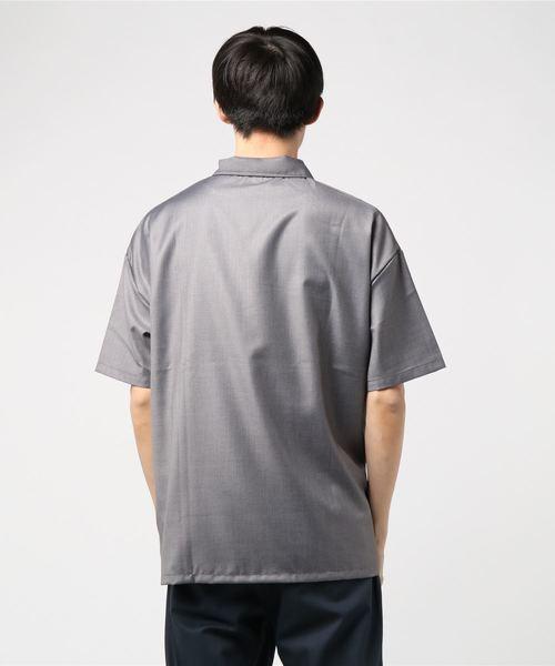 ハーフジッププルオーバーシャツ