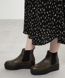 KAREN LIPPS (カレンリップス)の(KAREN LIPPS)プラットフォームサイドゴアブーツ(ブーツ)