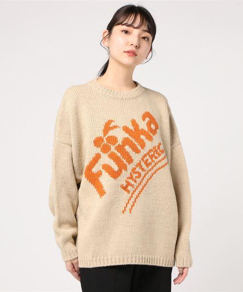 FUNKA編み込みプルオーバー