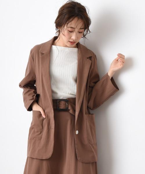 ファッションの エコリネン風シェル釦ジャケット(テーラードジャケット)|INTERPLANET(インタープラネット)のファッション通販, SHEBEACH JAPAN:ecdd403a --- pitomnik-zr.ru