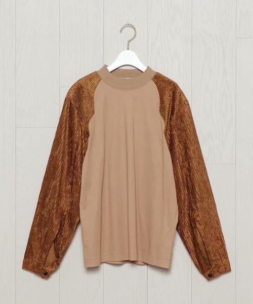 <TOGA PULLA>CORDUROY SLEEVE PULLOVER/カットソー.