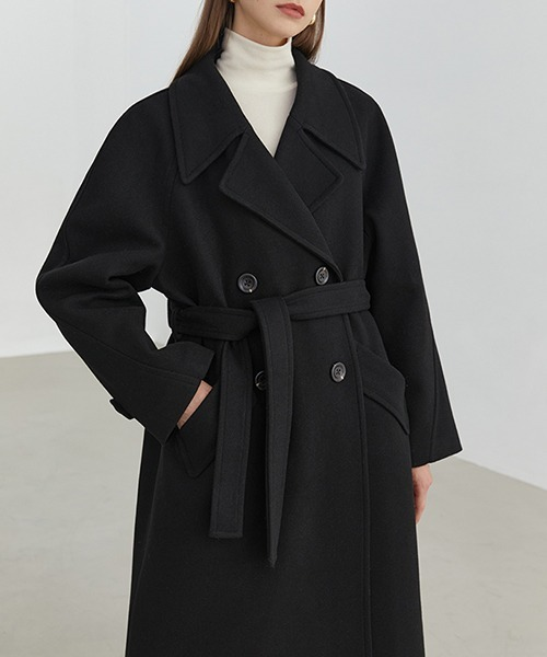 【Fano Studios】【2021AW】Double Breasted Belted Chester Coat FD20W190