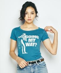 GOING MY WAY ? プリント チビTシャツ