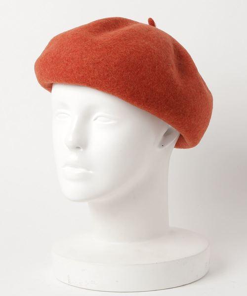 override(オーバーライド)の「コロコロバスクベレー(ハンチング/ベレー帽)」|オレンジ