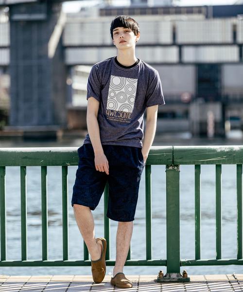 片染め杢天竺 プリントTシャツ JAPAN(和)