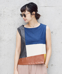 Ameri | COLOR BLOCK DENIM TOP(シャツ・ブラウス)